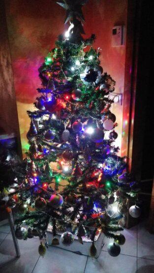 Il Natale e in famiglia intorno al Albero